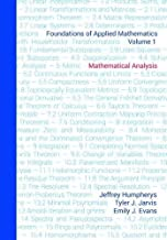 Foundations of Applied Mathematics, Volume 1: Mathematical Analysis