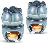Dongbin 2PCS diffusore della Lampada della Candela, in Ceramica di Candela Olio Titolare diffusore, Stufa Cera tè, utilizzato per la Decorazione Domestica, i Regali di Natale Housewarming