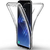 Leathlux Funda protectora de 360 ??grados para cuerpo completo y de silicona transparente para Samsung Galaxy S9 Plus