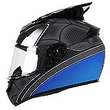 SJAPEX Integral-Helm Motorradhelm mit Ox-Horn, Off Road Helme Roller-Helm Scooter-Helm Cruiser Sturz-Helm Street-Fighter-Helm Sport Urban MTB Full Face Helmet, DOT Zertifiziert