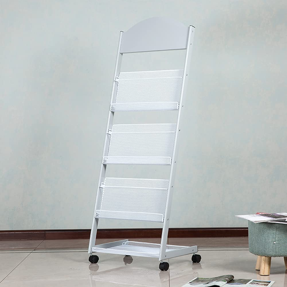 AKDXM Vertical 40% Fees free!! OFF Cheap Sale Magazine Rack Newspaper Floor-Standing Simpl