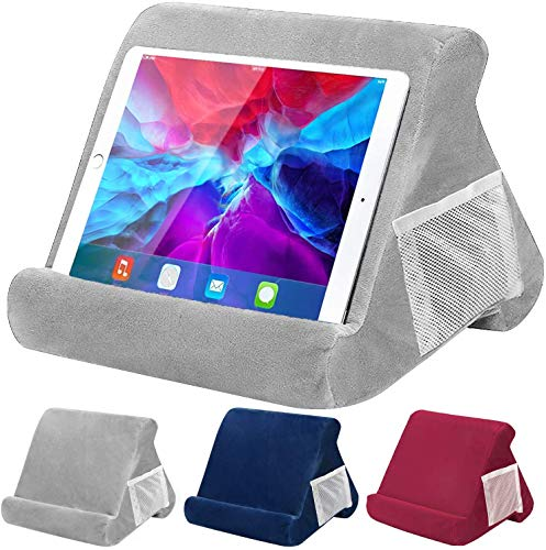 Tablet Pillow Stand, Pillow Soft Pad for Lap - FANIER Multi-Angle Cushion for Tablets, Soft Pillow for Tablets, Smart Phones, Digital Book Readers, Books and Magazines (Gary)
