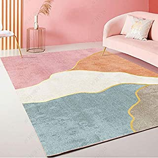 Area Rugs, Modern Pink Series Pattern Carpet for Living Room Bedroom - Kids Playroom Nursery Classroom Dining Room Decor F...