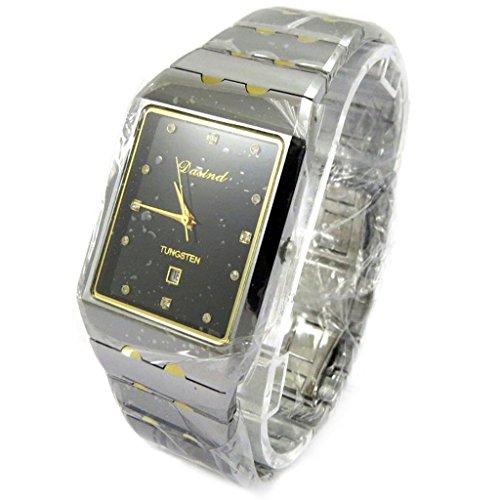 'french touch' orologio da polso metallo grigio cromato oro.
