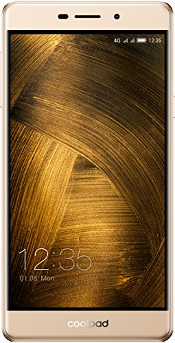 Coolpad Modena 2 Smartphone (13,9 cm (5,5 Zoll), IPS Bildschirm, 16 GB, Android 6.0) Champagner Gold