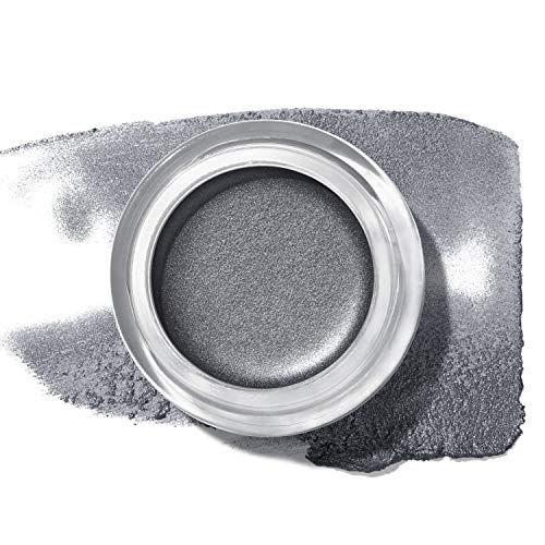 Revlon Colorstay Creme Eye Shadow, Longwear Blendable Matte or Shimmer Eye Makeup with Applicator Brush in Dark Silver, Licorice (755)