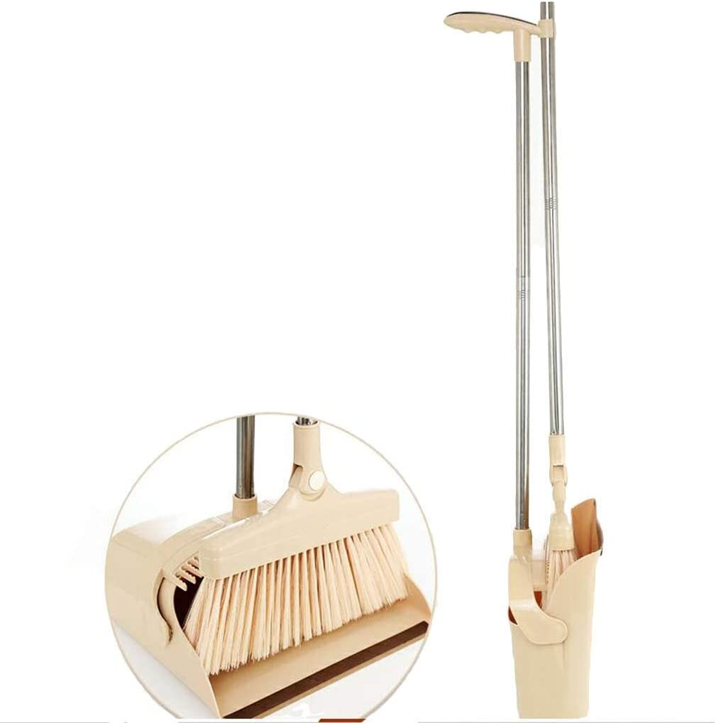 NLIAN- Broom and Dustpan Online limited product Set Handle Long 93cm Upright Standing Quality inspection