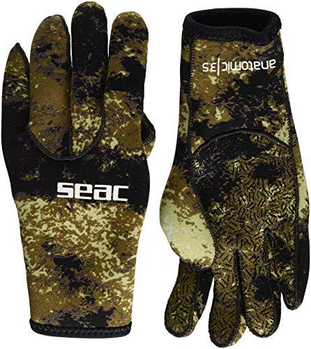 Seac 0160035067080a, guantes unisex–adulto, color marrón, talla única