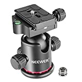 Neewer Professional Metal 360 Degree Rotating Panoramic Ball Head with 1/4 inch Quick