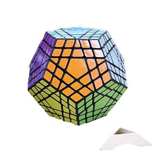 HappyToy Shengshou 5x5x12 Megaminx Dodecahedron 5x5 Megaminx Megaminx Cubo 12 Surface + Un treppiede personalizzato (negro)