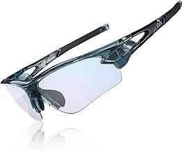 ROCKBROS Zonnebril, fietsbril, fotochromatisch uv-bescherming, anti-blauw licht voor sport, fietsen en lezen voor de computer