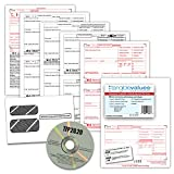 W-2 Tax Forms 2020 - Tangible Values 4-Part Laser Tax Form Kit with Envelopes - Includes TFP Software, 50 Pack