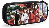 Anime Spirited Away Ogino Chihiro & No Face Man - Estuche para lápices con cremallera con compartimentos