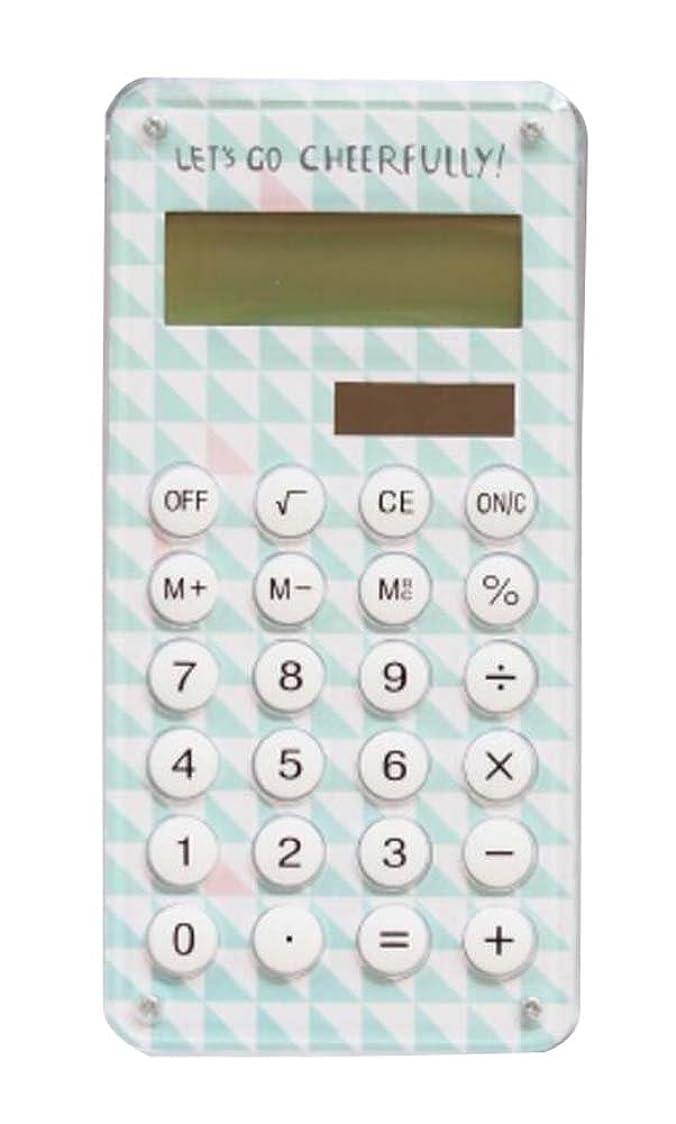 津波航海のバックファッショナブルなソーラー電卓、かわいい携帯電卓、グリーン