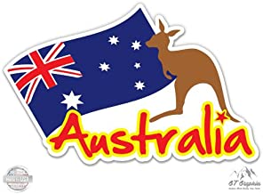 GT Graphics Australia Travel Suitcase Sticker - Vinyl Sticker Waterproof Decal