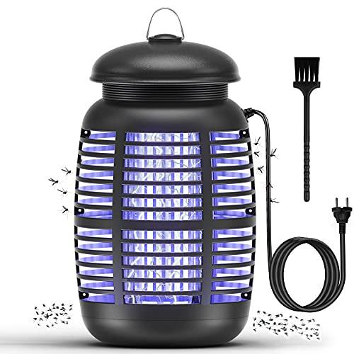 Mksutary Lámpara Antimosquitos, 15W UV Lámpara Anti Mosquitos Matamoscas Eléctrico Trampa Polillas Repelente Matar de Moscas Polillas Insectos, Area efectiva 80㎡ Interior y Jardin