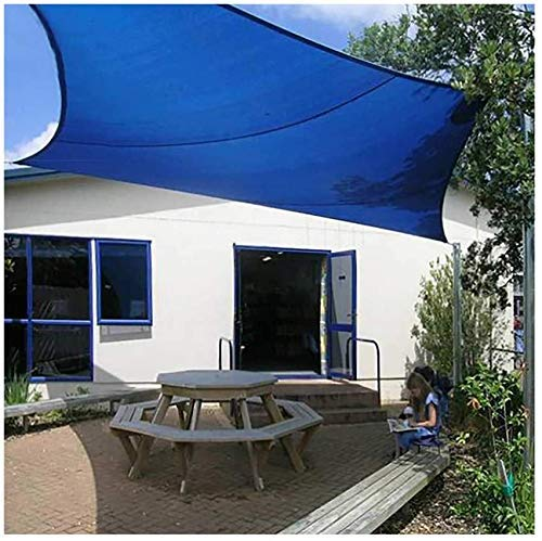 SEESEE.U Markise Rechteck wasserdichte Markise UV-Block Markise Outdoor Segel Garten Baldachin Terrasse Sonnenschirm-3x4m (10x13ft) Blau