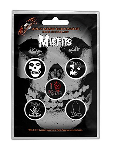 Misfits Badge Pack jarek Skull band logo Nue offiziell