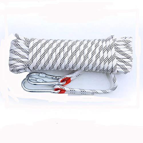 Sicherheitsseil Outdoor Alpinismus Sicherheitsseil Nylonseil Kletterseil robust für den Einsatz des Feuers Fuga 10 Seil / 16 mm Sicherheit für Wandern Speleologie Camping Rescue 10mm x 20m weiß