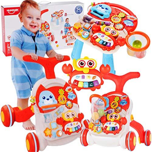 MalPlay Laufwagen 5 in 1 mit Spielzeugen und Piano   Gehfrei Spiel- und Lauflernwagen Lauflernhilfe Gehhilfe Musik   Spielecenter für Babys ab 6 Monaten