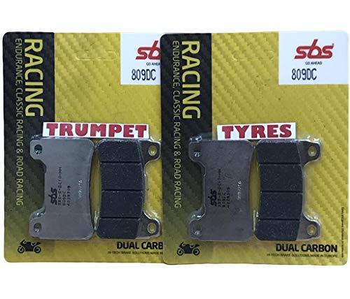 Honda CBR 600 RR ABS Cbr600rr ABS 09 10 11 12 13 14 15 16 17 18 avant SBS Performance Double Course Carbone Frein Racing Set Plaquettes Qualité Fabricant 809dc