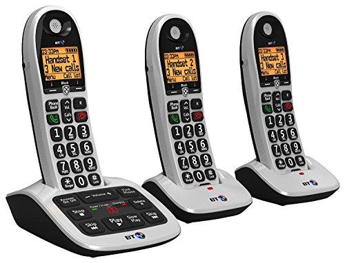 bt4600Big botón avanzada Call Blocker hogar teléfono con contestador automático (Terminal Trio Pack)