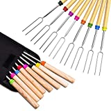 Newthinking Roasting Sticks, Marshmallow Roasting 32 Inch Telescopic BBQ Roasting Forks, Stainless Steel with...