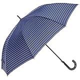 [ムーンバット] GENTS エクセルジェンツ メンズ 紳士 雨傘 長傘 ボーダー プリント ジャンプ ディープブルー 日本 親骨の長さ:約65㎝ 全長:約88㎝ 手元:約16.5㎝ (FREE サイズ)