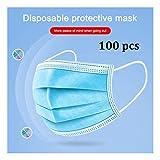 使い捨てマスク 防塵、弾性耳ループ付き使い捨てフェイスを使用使い捨てダスト&フィルター用バッグ(100 PCS) ノーズマスク a+++