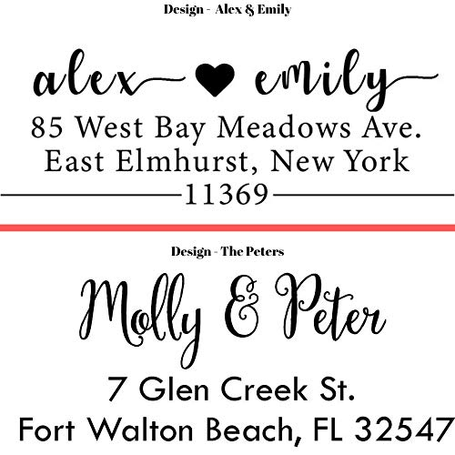 20 Designs to Choose!! Personalized - Address Stamp - Customized Stamp - Self-Inking Return Address Mail 3 Lines Custom Address Stamper - Black Red Blue Purple Green Ink - Wedding Invitation Stamp Photo #9