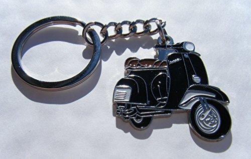 Métal Émail Porte-clés Scooter Trottinette Noir Porte-clés dans une boîte cadeau