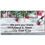 Holiday Barn Wood Rustic Christmas Address Labels (Holiday Barn Wood)
