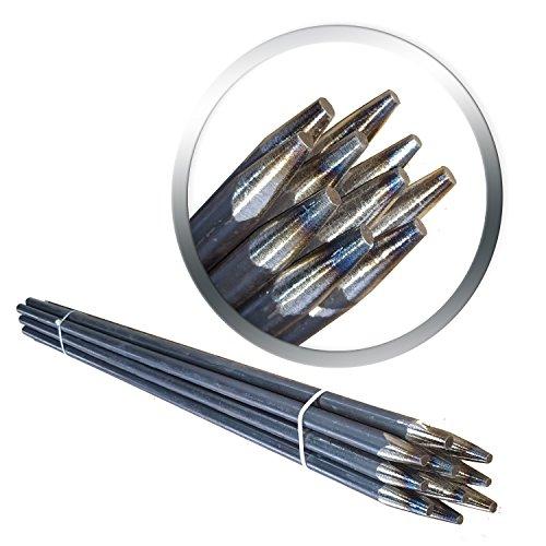 Schnureisen 10 Stück 16mm Schnurpfahl Schnurnagel, verschiedene Längen Schnurpfähle 1200mm (120cm) Lang