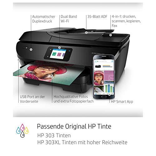 HP ENVY Photo 7830 Multifunktionsdrucker (Instant Ink, Drucken, Scannen, Kopieren, Faxen, WLAN, Airprint) inklusive 6 Monate Instant Ink