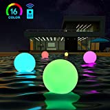 LOFTEK LED Dimmable Large Floating Pool Lights Ball, 16-inch Cordless Night Light with Remote, 16 RGB Colors & 4 Modes, Rechargeable and Waterproof, Perfect for Indoor/Outdoor, Pool, Exhibition Decor