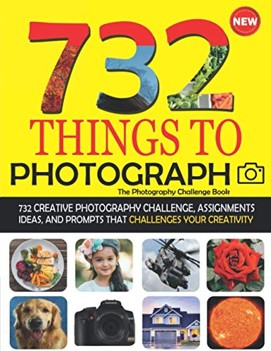 732 Things To Photograph - The Photography Challenge Book: 732 Creative Photography Ideas, Exercises, Assignments, Projects & Photo Prompts. ... Fashion Experimental Landscape & Much More!