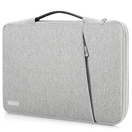 Eono Laptop Aktentasche Tasche Kompatibel mit 13-13,3 Zoll Alt MacBook Air, MacBook Pro Retina 2012-2015, Notebook, Polyester unregelmäßige vertikale Sleeve Handtasche Tragetasche Case Cover, Grau