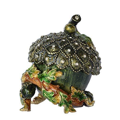 escultura de manos para parejas Esculturas Decoración Estatuas Decoración Bellota Tuerca Baratija y caja con joyas para collar Pendiente Organización de almacenamiento Mesa de metal Regalos novedosos
