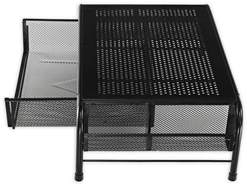 SimpleHouseware Metal Desk Monitor Stand Riser with Organizer Drawer Photo #5