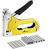 Easy to Install and Use - Upholstery staple gun is made of thick carbon steel,adopting the principle of spring spring-back impact, long-lasting durability. Quick-Jam-Clear - When the staple gun staple is stuck, you can pull down the binding switch an...