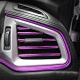 DIANXM 10 unids/Set 20 cm Universal Coche Aire Acondicionador de Aire Acondicionado Decorativo U Forma Moldeado Tiradores Tiras Decoración Coche Estilo Accesorios Universal (Color Name : Purple)