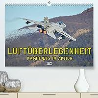 Luftueberlegenheit - Kampfjets in Aktion (Premium, hochwertiger DIN A2 Wandkalender 2022, Kunstdruck in Hochglanz): Faszinierende Aufnahmen von Kampfjets in Aktion. (Monatskalender, 14 Seiten )