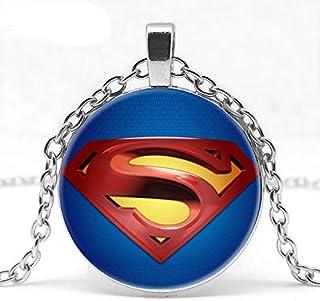 DGP Superman Collana Ciondolo Cristallo Pendente Argento