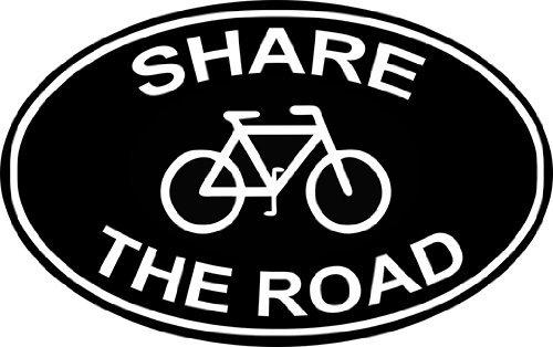 INDIGOS UG Aufkleber Autoaufkleber JDM Die Hart - Share The Road Bumper Sticker Cyclists 114mmX114mm