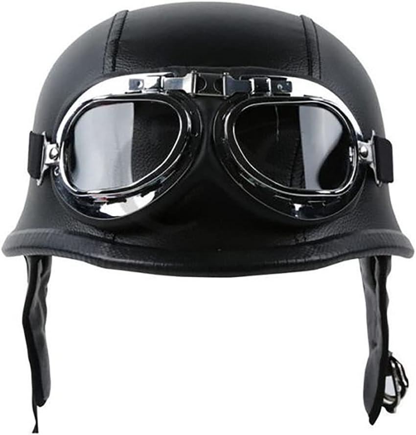 At the price of surprise XFSHKJS Retro Sales for sale Moto Half Helmet German Style Skull Cap