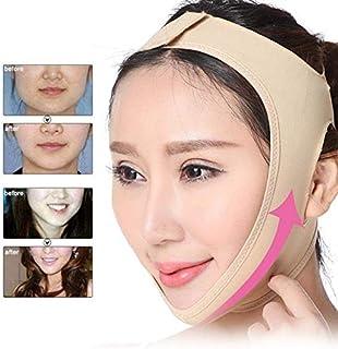 V-Shaped Facial Bandage Face Slimming Mask, Reduce Double Chin Face Lifting Belt Natural V Shape Cheek Lift Up Elastic Mag...