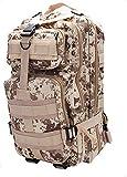 horeen 45L Zaino sportivo Outdoor Tactical Pack militare Pack d'assalto 3 giorni Molle Zaino Campeggio Escursionismo Caccia Bug Out Bag (Desert Camouflage)