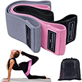Resistance Bands, Booty Bands 3 Sets for Legs and Butt Exercise Band Fitness Bands Resistance Loops Hip Thigh Glute Bands Non Slip Fabric Elastic Strength Squat Band Workout Beginner to Professional