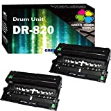(Drum,2-Pack) Compatible DR-820 DR820 Drum Unit for Brother TN850 TN880 Laserjet Printers Sold by Green Toner Supply