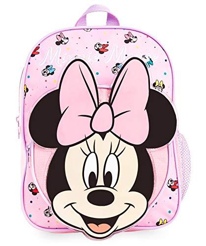 Disney Rucksack Kinder, 3D Schulrucksack mit Minnie Mouse, Ideal für Schule Reisen, Rosa Kindergartenrucksack Mädchen, Schule Zubehör, Original Disney Merchandise, Geschenke für Kinder